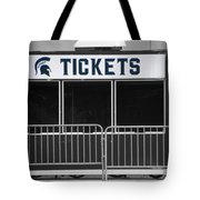 Michigan State University Tickets Booth Sc Signage Tote Bag