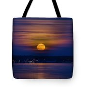Michigan Super Moon Over Muskegon Lake Tote Bag
