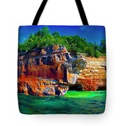 Michigan  Up Pictured Rock Kayakers 9060900109 Tote Bag