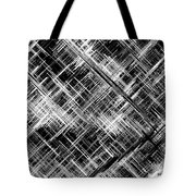 Micro Linear Black And White Tote Bag