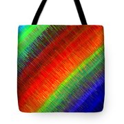 Micro Linear Rainbow Tote Bag