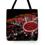 Microscopic V - Glitter Tote Bag by Sandra Hoefer