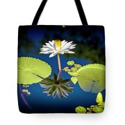 Mid Day Water Lily Reflection Tote Bag