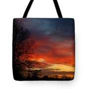 Mid-january Sunset Tote Bag