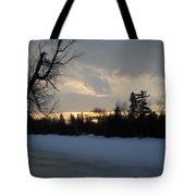 Mid March Sunrise Over Mississippi River Tote Bag
