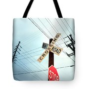 Mid West Crossroad, Usa Tote Bag