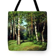 Midday Warmth In A Forest Impressionism Tote Bag