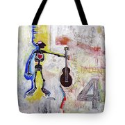 Middle-aged Musician Tote Bag by Rick Baldwin