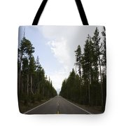 Middle Of The Road Tote Bag