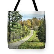 Middle Road In Autumn Tote Bag