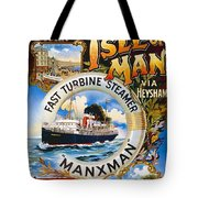 Midland Railway, Steam Boat, Isle Of Man, Poster Tote Bag