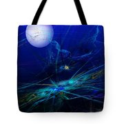 Midnight Abstract Tote Bag