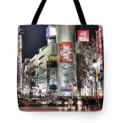 Midnight At Shibuya Tote Bag
