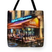 Midnight At The Brasserie Tote Bag