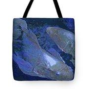 Midnight Blue Koi Tote Bag