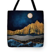 Midnight Desert Moon Tote Bag