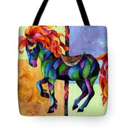 Midnight Fire Tote Bag
