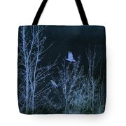 Midnight Flight Silhouette Blue Tote Bag
