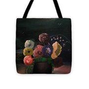 Midnight Flower Tote Bag