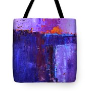 Midnight Glow Abstract Tote Bag