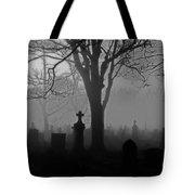 Midnight Graveyard Fog Tote Bag