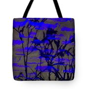 Midnight Lillies Tote Bag