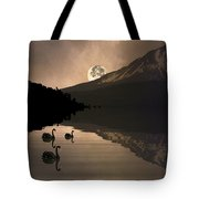 Midnight Moods Swan Lake In The Moonlight Tote Bag