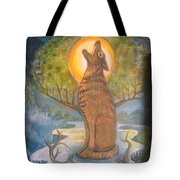 Midnight Mountain Majic 3 Tote Bag
