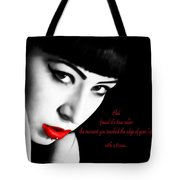 Midnight Ruby Tote Bag