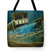 Midnight Shipwreck Tote Bag