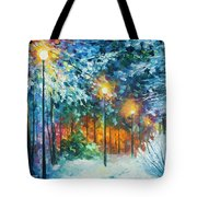 Midnight Snow Songs  Tote Bag