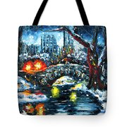 Midnight Stroll On The Gapstow Tote Bag