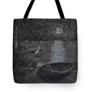 Midnight Visitor Tote Bag