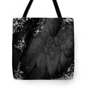 Midsummer Magik Quicksilver, Diamonds, Abstract Feathers, Silver Sparkles Tote Bag