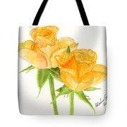 Midsummer Roses Tote Bag