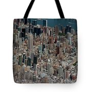 Midtown East Manhattan Skyline Aerial   Tote Bag