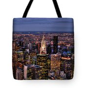 Midtown Skyline At Dusk Tote Bag