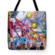 Midway Amusement Rides Tote Bag