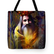 Midwinter Solstice Fire Lord Tote Bag