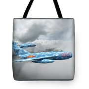 Mig 17s On The Hunt Tote Bag