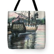 Mighty Ship Sleeping Tote Bag by Rosemary Kavanagh