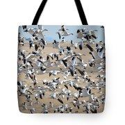 Migrating Snow Geese Tote Bag