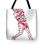 Mike Trout Los Angeles Angels Pixel Art 20 Tote Bag