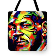 Mike Tyson Abstract Tote Bag