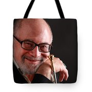 Mike Vax Professional Trumpet Player Photographic Print 3760.02 Tote Bag