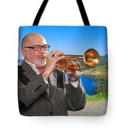 Mike Vax Professional Trumpet Player Photographic Print 3761.02 Tote Bag