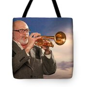 Mike Vax Professional Trumpet Player Photographic Print 3765.02 Tote Bag