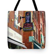 Mike's Ice Cream And Coffee Bar Tote Bag