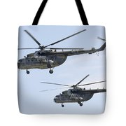 Mil Mi-17 Helicopters Of The Czech Air Tote Bag