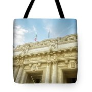 Milan Italy Train Station Facade Tote Bag